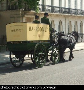 Photo of a horse-drawn wagon