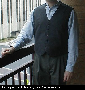 Photo of a man wearing a waistcoat