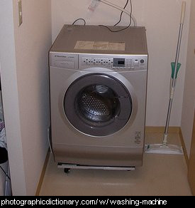 Photo of a washing machine