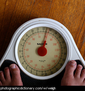 Photo of someone standing on scales