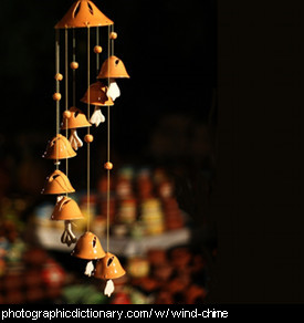 Photo of a wind chime