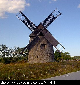 Photo of a windmill.
