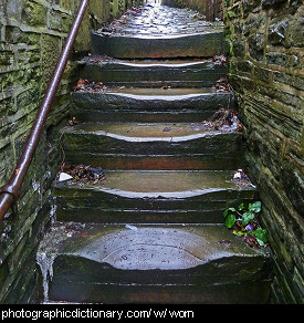 Photo of some worn steps