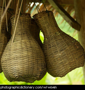 Photo of woven baskets