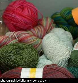 Photo of balls of yarn