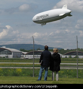 Photo of a zeppelin