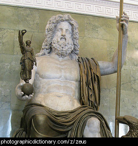 Photo of a statue of zeus