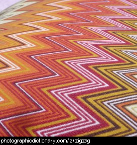Photo of zigzag print cloth