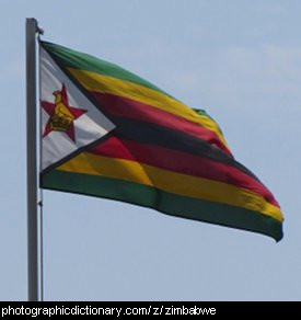Photo of the Zimbabwe flag