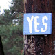 Photo of a sign that says Yes